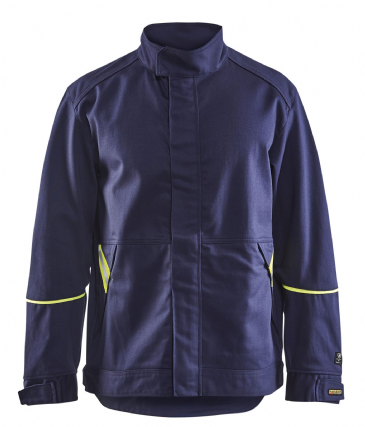 Blaklader 4801 Welding Jacket (Navy Blue/Yellow)
